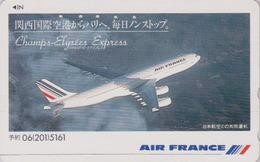 Télécarte Japon / 110-011 A - AIR FRANCE - AVION ** Champs-Elysees Express ** - AIRLINES Japan Phonecard - 2285 - Avions