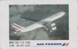 Télécarte Japon / 110-011 B - AIR FRANCE - AVION ** Champs-Elysees Express ** - AIRLINES Japan Phonecard - 2286 - Avions