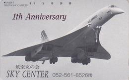 Télécarte NEUVE Japon / 290-3158 - AVION - CONCORDE - PLANE AIRLINES Japan MINT Phonecard - FLUGZEUG - 2290 - Avions