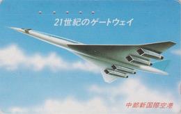 Télécarte Japon / 290-15574 - AVION - CONCORDE - AIRLINES Japan Phonecard - FLUGZEUG - Aviation France - 2293 - Avions