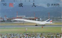 Rare Télécarte Ancienne Japon / 110-011 - AVION - CONCORDE - AIRLINES Japan Phonecard - FLUGZEUG - Aviation - 2294 - Avions