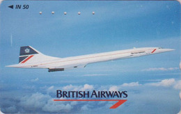 Rare Télécarte Japon / 110-011 - AVION - CONCORDE ** BRITISH AIRWAYS ** - AIRLINES Japan Phonecard / England - 2295 - Avions