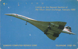 Rare Télécarte Japon / 110-62697 - AVION - CONCORDE ** BRITISH AIRWAYS ** - AIRLINES Japan Phonecard / England - 2296 - Avions