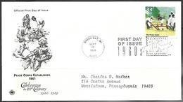 US 1999  Celebrate The Century 1961  Peace Corps  On  FDC - Tegen De Honger
