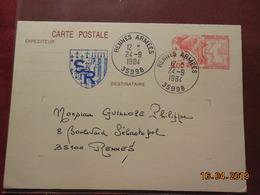 Entier Postal De 1984 à Destination De Rennes - Entiers Postaux