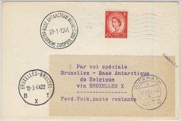 England - 2 1/2 P. Elizabeth, Drucksache Southampton - Brüssel- Base Antarctique - Sin Clasificación