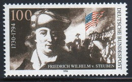 Germany 1994 Single Stamp To Celebrate The Death Bicentenary Of Gen Wilhelm Von Steuben. - [7] Federal Republic