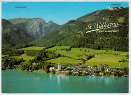 """ST  WOLFGANG    MIT  HOTEL  """" WEISSES ROSSL """"  AM  WOLFGANGSEE     (VIAGGIATA) - Altri"""