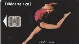 TELECARTE 120....LA GYMNASTIQUE..UNE PASSION...ELODIE LUSSAC  CHAMPIONNE D'EUROPE JUNIOR 93 - France