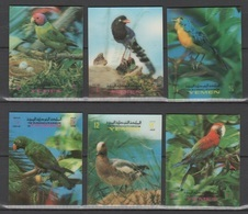 Yemen-North (UK) 1970 Jemen-Nord (Königreich) Mi 1047-1052 Birds (three-dimensional) / Vögel (Dreidimensional) **/MNH - Perroquets & Tropicaux
