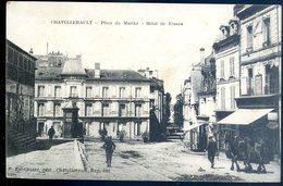 Cpa Du 86 Chatellerault Place Du Marché -- Hôtel De France     MA5 - Chatellerault