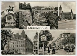 LUXEMBOURG   HOTEL  DES POSTES - PLACE DE PARIS - CAISSE D'EPARGNE-VILLE  BASSE DU  GRUND         (SCRITTA) - Cartoline