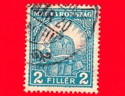 UNGHERIA - Usato - 1928 - Santa Corona Di Ungheria - Corona Di S. Stefano - 2 - Ungheria