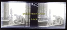 Notre Dame , Paris , Photo ,  Plaque  De Verre, Négatif., Stéréoscopique, Stéréo, Notre-Dame , Gargouille, Chimère . - Unclassified