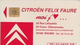 TELECARTE 50... .CITROEN FELIX FAURE MOI J'AIME...ROUEN... - France