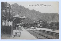 La Gare, Train, Villefranche, France - Villefranche-sur-Mer