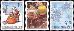 Serbia And Montenegro, 2003, New Year, Set, MNH, Mi# 3156/58, Sc# 216/18 - Serbie