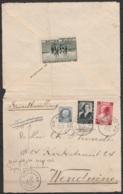 L. Exprès (ouverte) Affr. N°211+456+463 Càd GENT 10G/28 IV 1938 Pour WENDUINE (au Dos: Vignette Blankenberghe) - Belgique