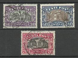 Estland Estonia Estonie 1924/27 Theater Michel 55 & 56 & 62 O - Estonia
