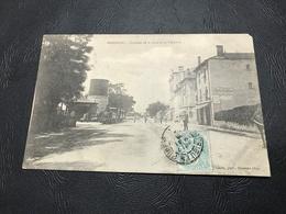 AMBERIEU Quartier De La Gare Et Le Tramway - 1906 Timbrée - Autres Communes
