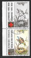FRANCE 2612a Croix Rouge Soierie De Lyon Oiseau Nid Oisillons . - France