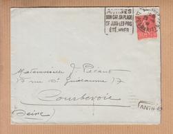 DAGUIN  De   ANTIBES    Sur Lettre Avril 1932   Pour  COURBEVOIE - Marcophilie (Lettres)