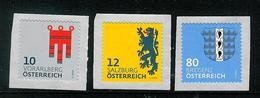 Österreich 2018: Mi.-Nr. 3404 - 3406:   Heraldik   II   ** - 1945-.... 2ª República