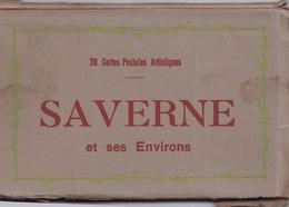 """67 SAVERNE Et Ses Environs - 20 Cartes Postales Détachables - Marque """"La Cigogne"""" - Saverne"""