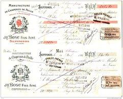 BOSC  Manufacture De Chapeaux De Paille  SEPTFONS (Tarn & Garonne)  Lot De 2 Différentes 1914 - Cambiali
