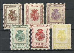 GERMANY Reich 1887/1888 ESSEN Privater Stadtpost Private Local City Post * - Privatpost