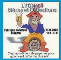 SOUS-BOCK LYON 2000 BIERES ET COLLECTIONS FABRIQUE DE BIERES NINKASI LYON CERVOISE CLUB - Bierdeckel