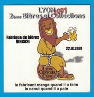 SOUS-BOCK LYON 2001 2ème BIERES ET COLLECTIONS FABRIQUE DE BIERES NINKASI LYON CERVOISE CLUB - Bierdeckel