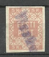 ESTLAND ESTONIA 1918 Provisional Line Cancel IISAKU On Michel 1 - Estland