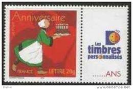 """FR Personnalisés YT 3778A """" Anniversaire, Bécassine - LTP """" 2005 Neuf** - Personalized Stamps"""