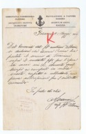 DUBROVNIK - DUBROVACKA PAROBRODSKA PLOVIDBA 1914  - LETTERA AUTOGRAFA FIRMATA DAL CAPITANO - 1914 - Boats