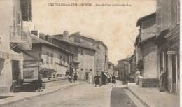 CPA 01 (Ain) CHATILLON SUR CHALARONNE / GRAND PONT Et GRANDE RUE / ANIMEE - Châtillon-sur-Chalaronne