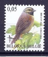 BELGIE * Buzin * Nr 3379 * Postfris Xx * HELDER WIT  PAPIER - 1985-.. Birds (Buzin)