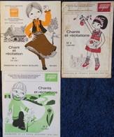 Chants Et Récitations - Émissions De La Radio Scolaire - Lot De 3 Livrets . - Bücher, Zeitschriften, Comics