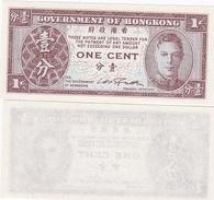 Hong Kong - 1 Cent 1945 P.321 UNC Lemberg-Zp - Hongkong
