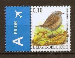 BELGIE * Buzin * Nr 3749 * Postfris Xx *  WIT  PAPIER - 1985-.. Birds (Buzin)
