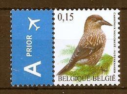 BELGIE * Buzin * Nr 3750 * Postfris Xx * DOF WIT  PAPIER - 1985-.. Birds (Buzin)