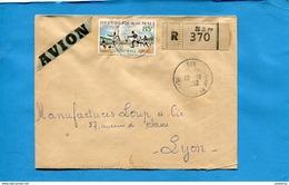 Marcophilie-MALI-lettreREC >Françe-cad-SAN -1963-stamp N° 33 Sport Football - Mali (1959-...)