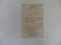 Lettre De A. Truchelut Expert-géomètre Faubourg Du Jura à Bourg (Ain). - France