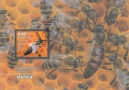 MAXIMUM CARD CROATIA 1189,bees - Croatie