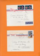 TCHAD   Lot De 2 Lettres  Annees 1970   Voir Scan  Pour 22 DINAN Et 56 LANDEVANT - Tchad (1960-...)