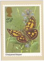 Butterflies: CHEQUERED SKIPPER  - Vlinder / Butterfly / Schmetterling / Papillon - (United Kingdom)  - 25P - Vlinders