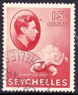 SEYCHELLES 1942 KGVI 15 Cents Brown-Red SG139ab FU - Seychelles (...-1976)