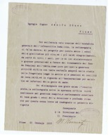 FIUME / RIJEKA  - LETTERA DATTILOSCRITTA FIRMATA DAL PRESIDENTE CLUB CAPITANI MARITTIMI - GENNAIO 1913 - Boats