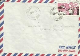 VIÊTNAM - 1984 - LETTRE DE HA-SON-BINH À GONDRECOURT LE CHÂTEAU (55 - FRANCE) - Viêt-Nam