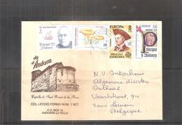 Belle Lettre D'Andorre Espagnol Vers La Belgique (à Voir) - Lettres & Documents